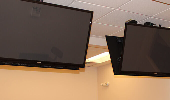 televisions in waiting room